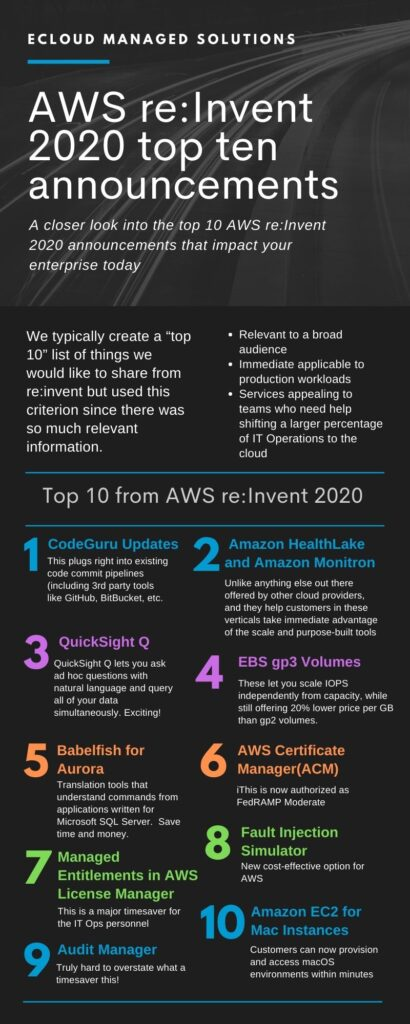 ecloud AWS top 10 from re_invent